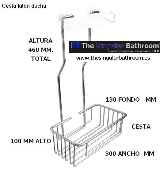 Accesorios de ba o complementos decoracion toalleros for Cesta ducha colgar