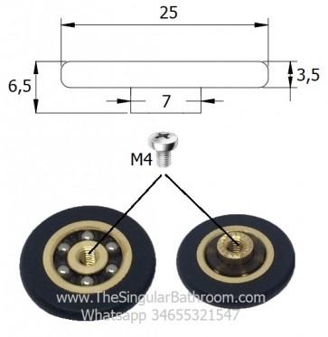 Rodamientos de 25 mm para ducha