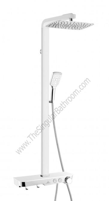Columna de ducha blanca termostática ARTIS System Touch