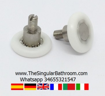 Bearing, roller, wheel, spare for shower door