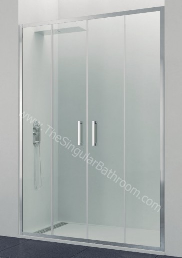 Mampara GME TITAN PRESTIGE frontal 2 fijos + 2 puertas correderas