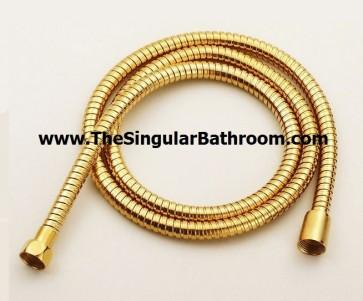 Manguera flexible para ducha color dorado alto brillo ORO GOLD 1,70 mts