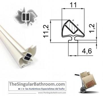 Goma magnetica para puertas de mampara o cabina
