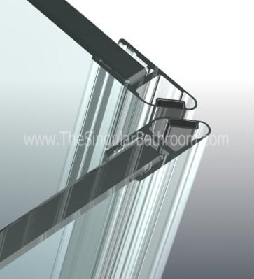 Junta imán de mampara ducha y baño para vidrio de 4, 5 y 6mm espesor.