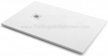 Plato de ducha KASSANDRA FONTANA textura stone color blanco