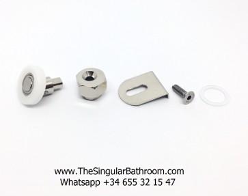 Rodamiento articulado para mampara semicircular