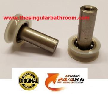 Rodamiento mampara ducha polea universal, estandar, rueda, recambios para la mampara ducha, cabina ducha rueda, rodillo polea 18 mm