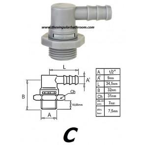 Conexión Racor 1/2 orientable para grifería hidromasaje