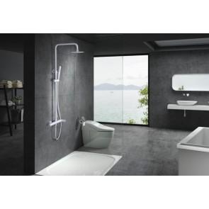 Columna de ducha monomando blanco