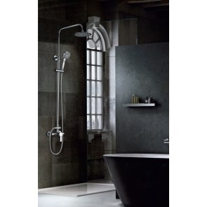 Columna de ducha monomando ROMA en color Cromado