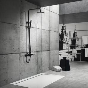 Columna de ducha monomando MILOS en color Negro