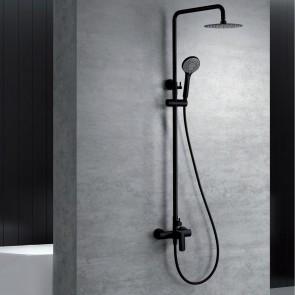 Columna de ducha monomando URAL en color negro mate