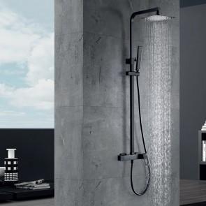 Columna de ducha monomando SUECIA en color Negro