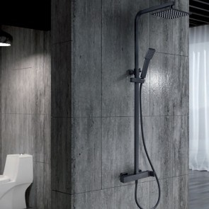 Columna de ducha y bañera monomando FIYI en color Negro