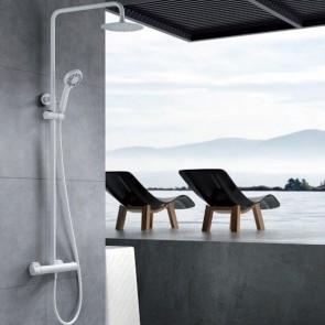 Conjunto ducha termostática LONDRES en color Blanco mate