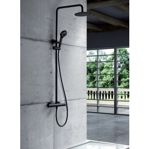 Columna ducha termostática KENT en color negro mate