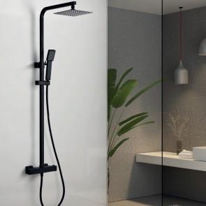Columna ducha termostática VIGO en color negro mate