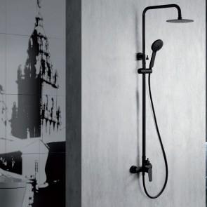 Columna de ducha monomando BELGICA en color negro mate