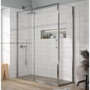 Mampara de ducha KASSANDRA YOKO frontal de ducha fijo + corredera y opción a lateral fijo