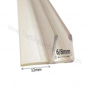 Perfilmampara, junta vierteaguas para vidrio de 6mm y 8 milímetros
