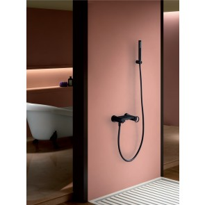 Conjunto grifo de ducha negro