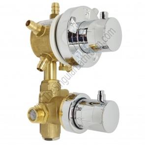 Grifo hidromasaje termostático con selector de 5 vías