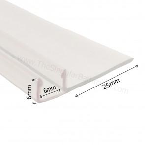 Goma lateral efecto invisible para mampara de ducha y baño