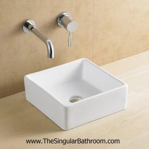 Lavabo con diseño rectangular