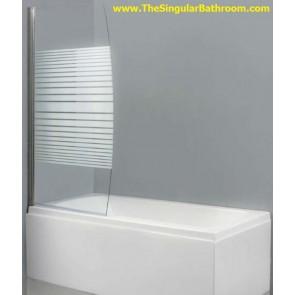 Panel abatible para bañera solo en vidrio transparente
