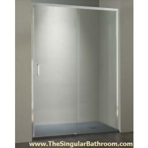 Mampara de ducha en vidrio transparente