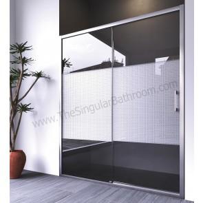 Mampara de ducha ANNA BAGNO SENA frontal un fijo + puerta corredera