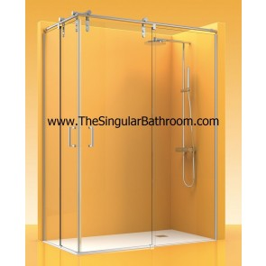 Mampara de ducha acero inox angular ATEMPO 300