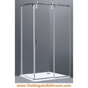 Mampara ducha rectangular en vidrio transparente economica