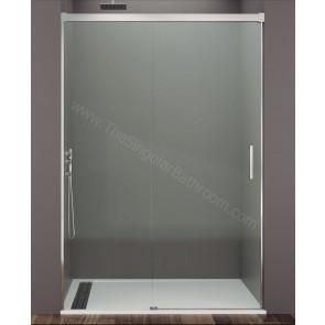Mampara GME BASIC frontal fijo + puerta corredera