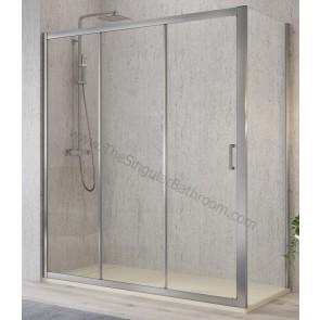 Mampara de ducha KASSANDRA DIANA frontal y opción de lateral fijo