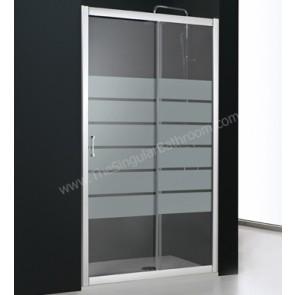 Mampara de ducha fronal PROFILTEK SERIE SPRING 1 puerta corredera + 1 fijo