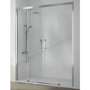 Mampara ducha KASSANDRA SERIE 400 frontal 2 fijos + 2 puertas correderas