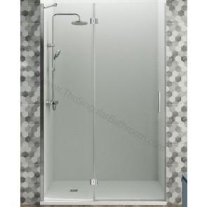 Mampara GME OPEN FIJO + puerta abatible con cierre magnético a pared