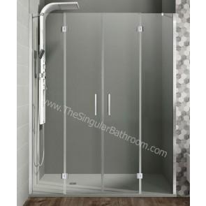 Mampara GME GLASS 2 FIJOS + 2 puertas abatibles centrales