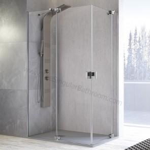 Mampara de ducha angular KASSANDRA SULA con 2 fijos + 2 puertas pivotantes