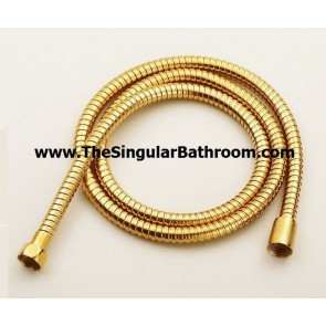 Manguera flexible para ducha color dorado alto brillo ORO GOLD 1,70 mts