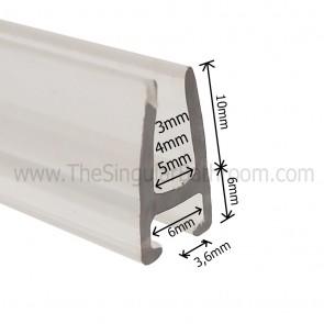 Perfil para puerta de vidrio de 3, 4 y 5 mm de mampara de ducha