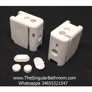 MEGIUS curvetemp 16cfr1201, Piezas de plástico para recambio mampara de perfilería