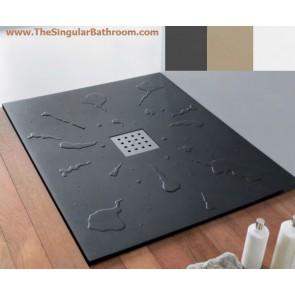 Plato de ducha doccia GOTAS ACRILICO en color blanco, crema y grafito