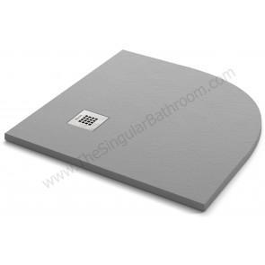 Plato de ducha KASSANDRA FONTANA textura stone color gris cemento