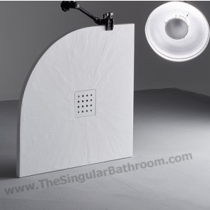 Plato de ducha semicircular pizarra