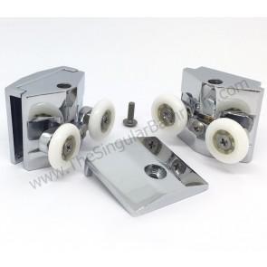 Soporte metálico doble rodamiento mampara ducha Nesguel, Vital Bath, Hüppe