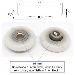 Rodamiento de 23mm para mampara de ducha Metalkris, Novellini