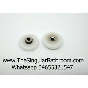 Rueda de mampara nylon de 27 mm de diámetro