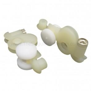Pieza de plástico con rodamientos para mamparas